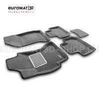 Текстильные 3D коврики Euromat3D Lux в салон для Subaru Forester (2012-2018) № EM3D-004709G Серые