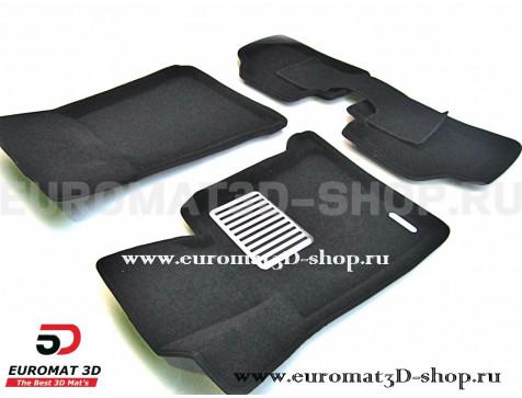 Текстильные 3D коврики Euromat3D Lux в салон для Bmw 1 (E87) (2007-2011) № EM3D-001200