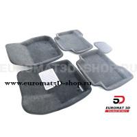 Текстильные 3D коврики Euromat3D Lux в салон для Ford Kuga (2013-) № EM3D-002210G Серые